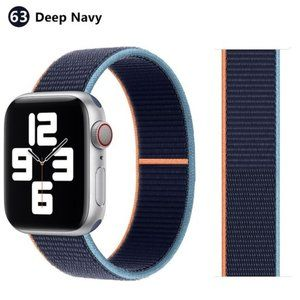 NEW SURF-BLUE Strap Loop Band FOR Apple Watch